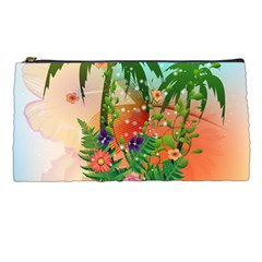 Tropical Design With Palm And Flowers Pencil Cases by FantasyWorld7