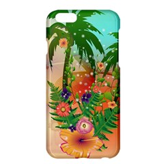 Tropical Design With Palm And Flowers Apple Iphone 6 Plus/6s Plus Hardshell Case by FantasyWorld7