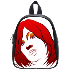 Women Face With Clef School Bags (small)