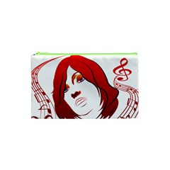 Women Face With Clef Cosmetic Bag (xs) by EnjoymentArt