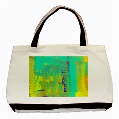 Abstract In Turquoise, Gold, And Copper Basic Tote Bag  by digitaldivadesigns