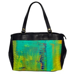 Abstract In Turquoise, Gold, And Copper Office Handbags by digitaldivadesigns