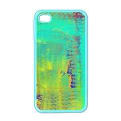 Abstract In Turquoise, Gold, And Copper Apple Iphone 4 Case (color) by digitaldivadesigns