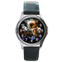Wonderful Horses In The Universe Round Metal Watches by FantasyWorld7