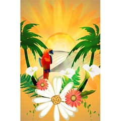 Cute Parrot With Flowers And Palm 5 5  X 8 5  Notebooks by FantasyWorld7