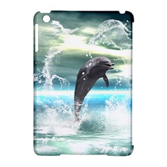 Funny Dolphin Jumping By A Heart Made Of Water Apple Ipad Mini Hardshell Case (compatible With Smart Cover) by FantasyWorld7