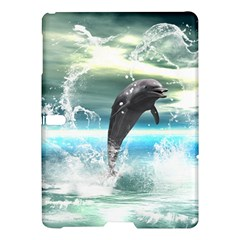 Funny Dolphin Jumping By A Heart Made Of Water Samsung Galaxy Tab S (10 5 ) Hardshell Case  by FantasyWorld7