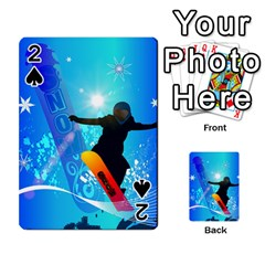 Snowboarding Playing Cards 54 Designs  by FantasyWorld7