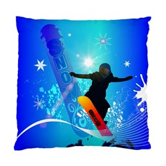 Snowboarding Standard Cushion Cases (two Sides)  by FantasyWorld7
