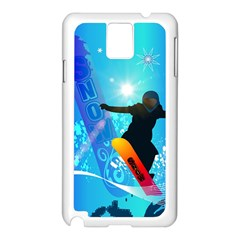Snowboarding Samsung Galaxy Note 3 N9005 Case (white) by FantasyWorld7