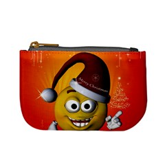 Cute Funny Christmas Smiley With Christmas Tree Mini Coin Purses by FantasyWorld7