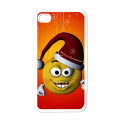 Cute Funny Christmas Smiley With Christmas Tree Apple Iphone 4 Case (white) by FantasyWorld7
