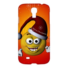 Cute Funny Christmas Smiley With Christmas Tree Samsung Galaxy S4 I9500/i9505 Hardshell Case by FantasyWorld7