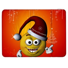 Cute Funny Christmas Smiley With Christmas Tree Samsung Galaxy Tab 7  P1000 Flip Case