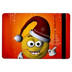 Cute Funny Christmas Smiley With Christmas Tree Ipad Air Flip by FantasyWorld7