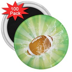 American Football  3  Magnets (100 Pack) by FantasyWorld7