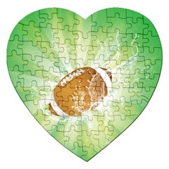 American Football  Jigsaw Puzzle (heart) by FantasyWorld7