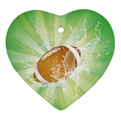 American Football  Heart Ornament (2 Sides) by FantasyWorld7