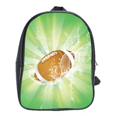 American Football  School Bags(large)  by FantasyWorld7