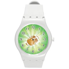 American Football  Round Plastic Sport Watch (m) by FantasyWorld7