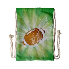 American Football  Drawstring Bag (small) by FantasyWorld7
