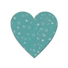 Sweetie Soft Teal Heart Magnet by MoreColorsinLife