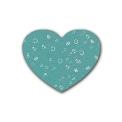 Sweetie Soft Teal Rubber Coaster (heart)