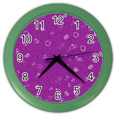 Sweetie,purple Color Wall Clocks by MoreColorsinLife