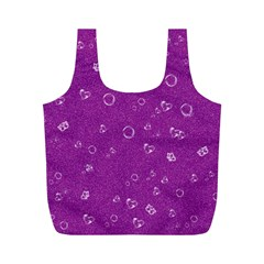 Sweetie,purple Full Print Recycle Bags (m)  by MoreColorsinLife