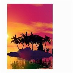 Wonderful Sunset Over The Island Small Garden Flag (two Sides) by FantasyWorld7