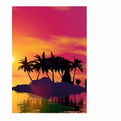 Wonderful Sunset Over The Island Large Garden Flag (two Sides) by FantasyWorld7