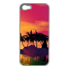 Wonderful Sunset Over The Island Apple Iphone 5 Case (silver) by FantasyWorld7