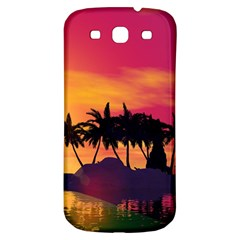 Wonderful Sunset Over The Island Samsung Galaxy S3 S Iii Classic Hardshell Back Case by FantasyWorld7