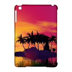 Wonderful Sunset Over The Island Apple Ipad Mini Hardshell Case (compatible With Smart Cover) by FantasyWorld7