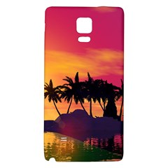 Wonderful Sunset Over The Island Galaxy Note 4 Back Case by FantasyWorld7