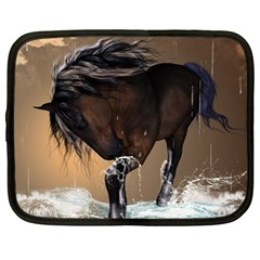 Beautiful Horse With Water Splash Netbook Case (large)	 by FantasyWorld7