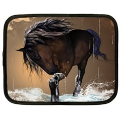 Beautiful Horse With Water Splash Netbook Case (xxl)  by FantasyWorld7