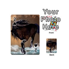 Beautiful Horse With Water Splash Playing Cards 54 (mini)  by FantasyWorld7