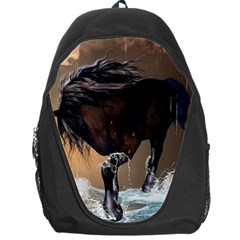 Beautiful Horse With Water Splash Backpack Bag by FantasyWorld7