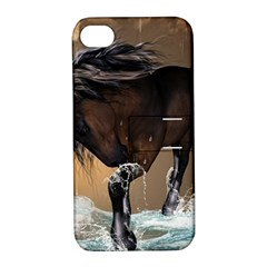 Beautiful Horse With Water Splash Apple Iphone 4/4s Hardshell Case With Stand by FantasyWorld7