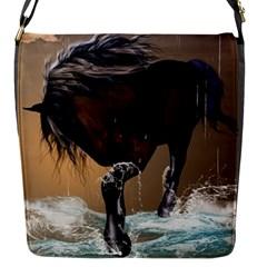 Beautiful Horse With Water Splash Flap Messenger Bag (s) by FantasyWorld7