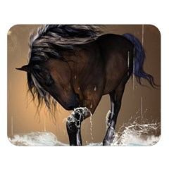 Beautiful Horse With Water Splash Double Sided Flano Blanket (large)  by FantasyWorld7