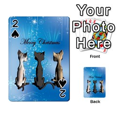 Merry Chrsitmas Playing Cards 54 Designs  by FantasyWorld7