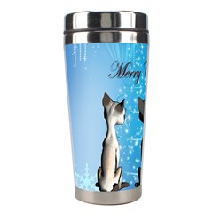 Merry Chrsitmas Stainless Steel Travel Tumblers by FantasyWorld7