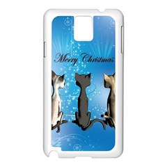 Merry Chrsitmas Samsung Galaxy Note 3 N9005 Case (white) by FantasyWorld7