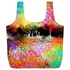 Colorful Tree Landscape Full Print Recycle Bags (l)  by digitaldivadesigns