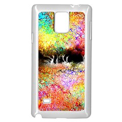 Colorful Tree Landscape Samsung Galaxy Note 4 Case (white)