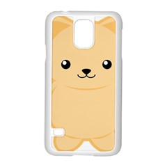 Kawaii Cat Samsung Galaxy S5 Case (white) by KawaiiKawaii
