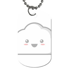 Kawaii Cloud Dog Tag (one Side) by KawaiiKawaii