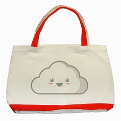 Kawaii Cloud Classic Tote Bag (red)  by KawaiiKawaii